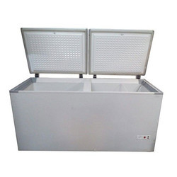 Two Lid Hard Top Deep Freezer With Half Cooler