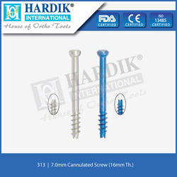 7.0mm Cannulated Screw (16mm Thread)