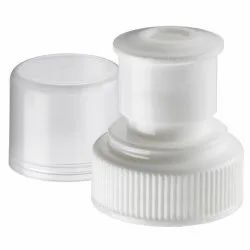 White Round Push Pull Bottle Plastic Cap, Packaging Type: Packet