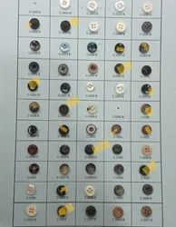 Polyester Round Buttons, For Garments, Packaging Type: Packet