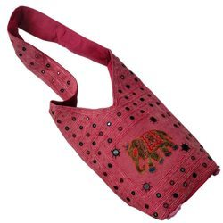 Pink Rajasthani Shoulder Bag