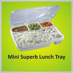 Plastic White Lunch Tray