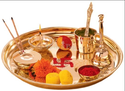 Brass Borosil Puja Thali