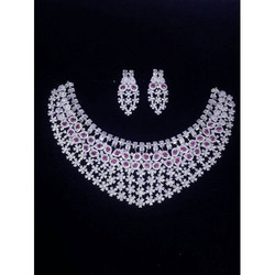 American Diamond Necklace And Earring