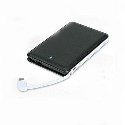3000 mAH Slim Leather Power Bank