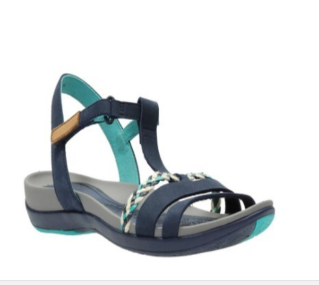 91b76d0d8a3 Clarks Leather Tealite Grace Navy Sandal