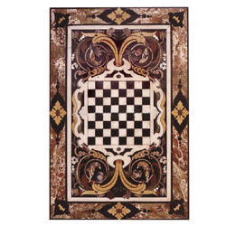 Rectangular Marble Inlaid Dining Table Top