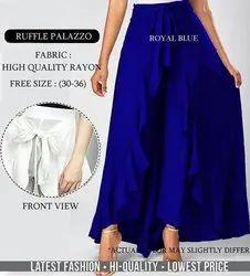 Ladies Ruffle Palazzo Pant