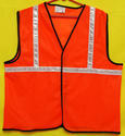 Reflective Vizwear Vests / Jackets 1 Orange Front Opening (v-1)