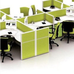 Green Stylish Modular Office Furniture