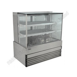 Glass, Stainless Steel Hot and Cold Display Cabinets, for Restaurant