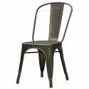 Dark Gray Cafe Metal Tolix Chair For Restaurant