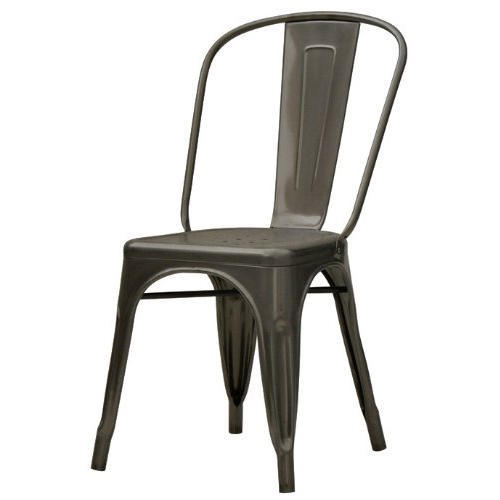 Dark Gray Cafe Metal Tolix Chair, Usage: Restaurant
