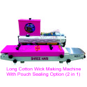 Semi Automatic Long Cotton Wicks Making Machine