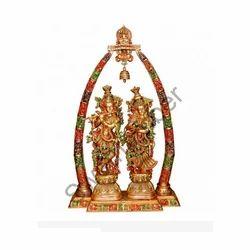 Brass Arch Radha Krishna Set