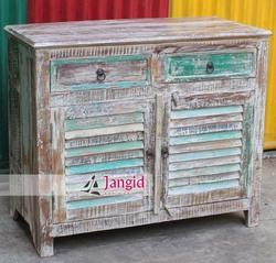 Reclaimed Wooden Sideboard, Size: 90x45x90 cms