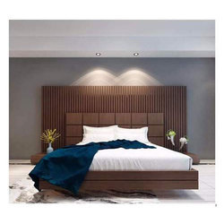 37543c1f07d6c Wooden Brown Double Bed For Hotel