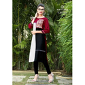 Mittoo Ladies Rayon 3/4th Sleeve Kurti, Size: S To Xxl