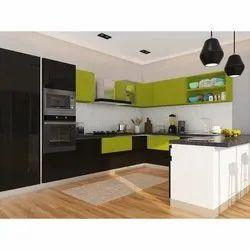 U Shape Modern U Shaped Modular Kitchen, Warranty: 5 Years