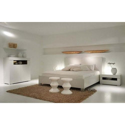 White Designer Double Bed