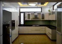 Modern Modular Kitchen, Work Provided: False Ceiling/POP