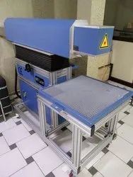 CO2 Laser Marking Machine Working On Leather, Shoe-Pad/Insole Engraving/Marking