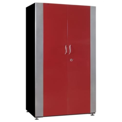 Red Off, White And Black Double Door Steel Almirah, Size/Dimension: 3 X 6.5 Feet