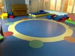 Rubber Multicolor Flooring For Play School Vinyl Flooring, Thickness: 2-6 Mm