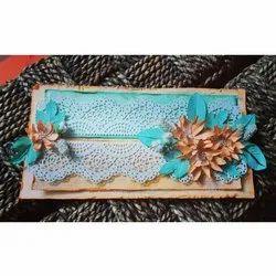 Blue Paper Handmade Birthday Greeting Card