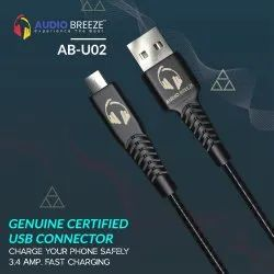 Audio Breeze A-BU02 Micro USB Fast Charging Data Cabel With 6 Month Warranty