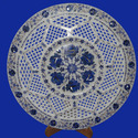 Alabaster Marble Inlay Round Plate