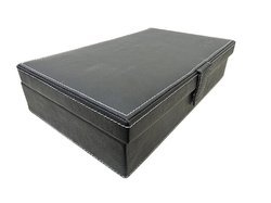 Omax 10 Slots Black Wrist Watch Box - Csk01