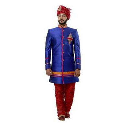 b210efe626 36-44 Embroided Blue Wedding Sherwani For Groom, Rs 14500 /piece ...