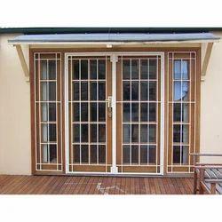 White Stainless Steel Entrance Doors