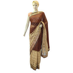 Net + Georgette Party wear Ladies Saree