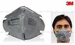 Universal Grey 3M 9000ING Dust And Pollution Mask