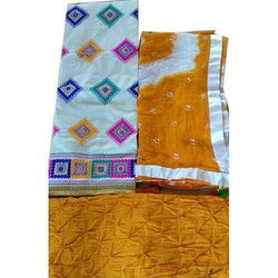 Cotton And Unstitched Stylish Ladies Suit Material