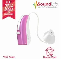 Widex Unique Fusion 220 RIC BTE Hearing Aid