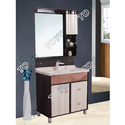 Ivory and Brown Free Standing Bathroom Vanities Cabinet