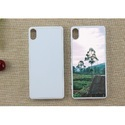 White And Black Plastic Sublimation Sony Xperia 2d Mobile Cover