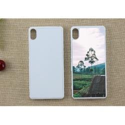 Plastic White And Black Sublimation 2D Mobile Cover For Sony Xperia