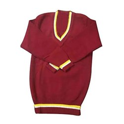 Unisex Plain Kids School Sweater