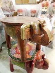 Antique Elephant Table
