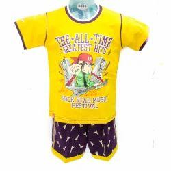 Multicolor Half T-Shirt Short Set