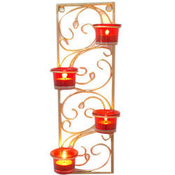 Golden Wall Candle Stand