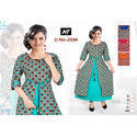 Front Cut 3/4th Sleeve Kurti