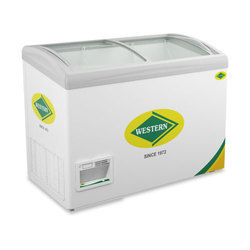 WHF325GC Curved Glass Top Chest Freezer