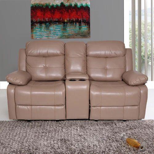 2 Seater Alex Leatherette Recliner Sofa
