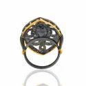 Evil Eye Diamond Silver Ring