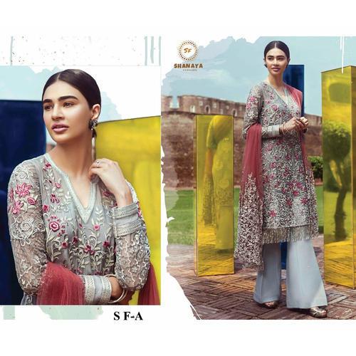 76ddf4f88c Georgette Unstitched Designer Party Wear Pakistani Suit | ID ...